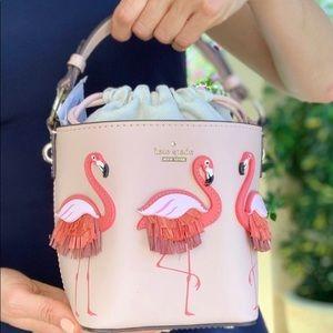 kate spade Bags - Kate spade flamingo pippa by the pool bucket bag